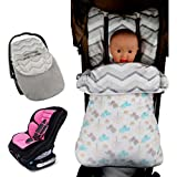GudeHome Saco de dormir para para el asiento del bebé en el coche Saco portabebés bebé Manta para capazos y sillas de coche para bebé 45*90CM (pollito azul)