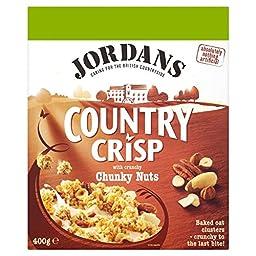 Jordans Country Crisp Chunky Nuts - 400g - Single Box (400g x 1 Box)