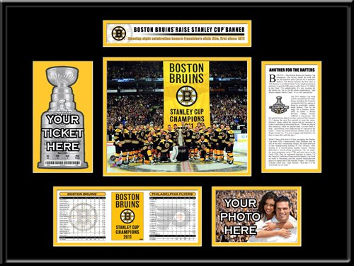 2011 Stanley Cup Champions Banner Raising Ticket Frame - Boston Bruins