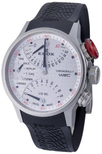Edox Men's 36001 3 AIN WRC Chronorally White Dial Watch