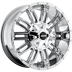 MKW Offroad M80 20 Chrome Wheel / Rim 8×170 with a 10mm Offset and a 130.80 Hub Bore. Partnumber M80-2090817010C