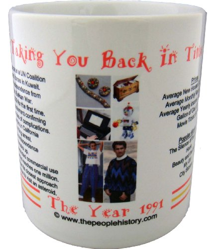 1991 Coffee Mug Featuring -1991 Year In History (Pink)
