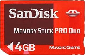 SanDisk PSP 4 Go Carte mémoire MemoryStick pour Sony PSP SDMSG-004G-B46
