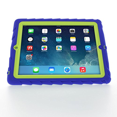 Apple iPad 2 iPad 3 iPad 4 Blue Gumdrop Cases Silicone Rugged Shock Absorbing Protective Dual Layer Cover Case (Original Ipad Case Protective compare prices)