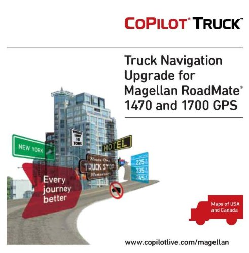 Magellan RoadMate 1700/1470 CoPilot Truck U.S.A./Canada Map microSD Card