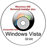 Windows Vista Home Premium 32-bit New Full Re Install Operating System Boot Disc - Repair Restore Recover DVD