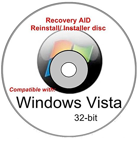 Windows Vista Home Basic 32-bit New Full Re Install Operating System Boot Disc - Repair Restore Recover DVD