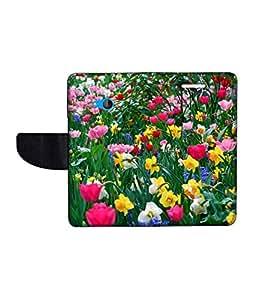 KolorEdge Printed Flip Cover For Microsoft Lumia 540 -Multicolor (50KeMLogo11118Lumia540)