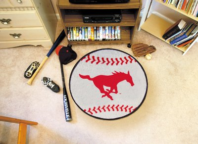 Southern Methodist Baseball Rug