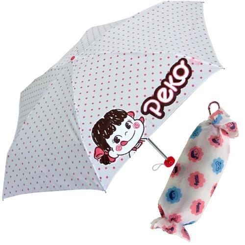 不二家のペコちゃん ぬいぐるみ折り畳み傘キャラクターアンブレラ(雨具)通販/