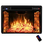 "AKDY Freestanding Electric Fireplace Insert Heater with Tempered Glass and Remote Control (28"" (W) x 20"" (H)) from AKDY"