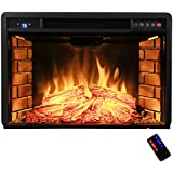 "AKDY 28"" Black Electric Firebox Fireplace Heater Insert W/Remote Azfl-EF05-28r"