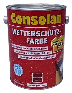 Consolan WetterschutzFarbe 5L (Grün)  BaumarktRezension