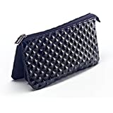 """BLACK ROCK STAR TRIPLE POCKET PENCIL CASE """"CHIC GLOSS RAISED STUDDED EFFECT FINISH"""" By Carolina Pads USA from the Rock Star Collection"""