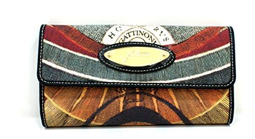 Gattinoni Portafogli Donna Wallet Mini Bag Placca Oro Cm 18x10x2 Multicolore