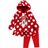 Disney Baby-girls Infant 2 Piece Mickey Mouse Polka Dot Pullover Hood and Pant, Red, 24 Months