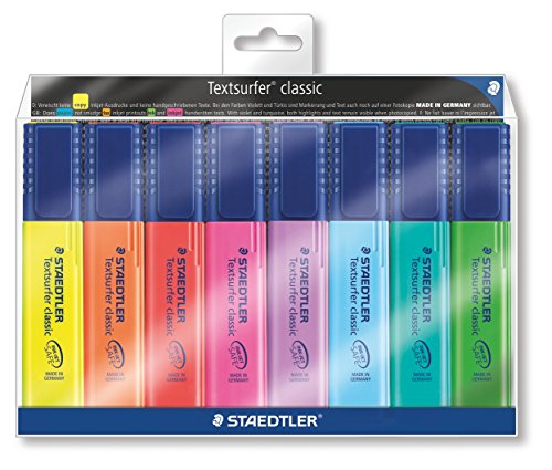 staedtler-textsurfer-classic-364-highlighter-assorted-colours-pack-of-8