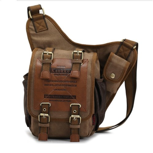 Cooler Mens Boys Vintage Canvas Shoulder Military Messenger Bag school Bags