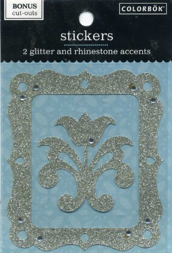 2 Glitter and Rhinestone Accents Stickers Colorbok