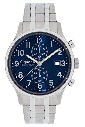 Gigandet SKYSCRAPER Orologio Uomo Cronografo Analogico Quarzo Blu Argento G49-004