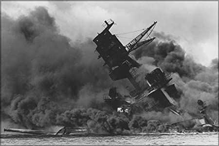 USS Arizona after Japanese Attack on Pearl Harbor