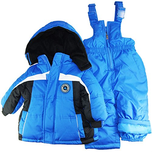 Ixtreme Baby Boys Infant Contrast Two Piece Snowsuit, Royal, 24 Months front-849107