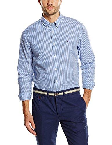 Tommy Hilfiger - Ivy Stripe, Camicia Casual uomo, Blau - Shirt Blue, XL
