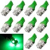 Aokdis New Fashion Cool Popular 10pcs T10 Wedge 5-smd 5050 Xenon LED Light Bulbs 192 168 194 W5w 2825 158 Sale