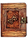 Happy Sad Drama Mask Pendant Kindle Fire HD Kindle Keyboard Case Cover Vintage Leather Hardcover Wallet Pouch Cases Covers Lock Brown Suitable for Samsung Galaxy Tab 2 7.0 P1000 Kobo Aura HD Kobo H2O Kobo Arc Kobo eReader Wireless