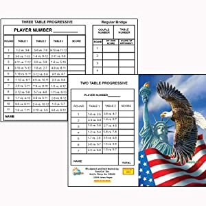 Lady Liberty Bridge Tallies (12 Pack) 2 & 3 Table Progessive