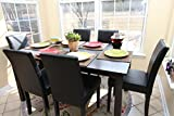6 Person Espresso Brown Dining Table Set