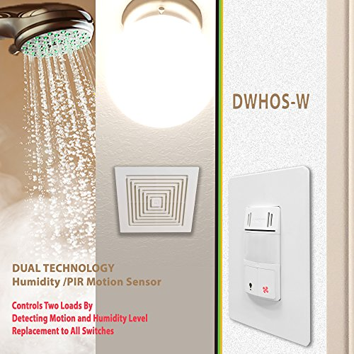 Humidity control switch by enerlites 2 in 1 humidity motion sensor switch bathroom fan switch Humidity activated bathroom fan