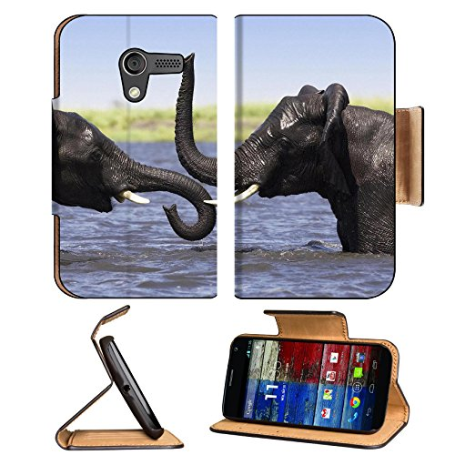 Animal Wildlife Elephant Baby Pack Tusk Africa Motorola Moto X Flip Case Stand Magnetic Cover Open Ports Customized Made To Order Support Ready Premium Deluxe Pu Leather 5 7/16 Inch (138Mm) X 3 1/16 Inch (78Mm) X 9/16 Inch (14Mm) Luxlady Mobility Cover Pr front-875253