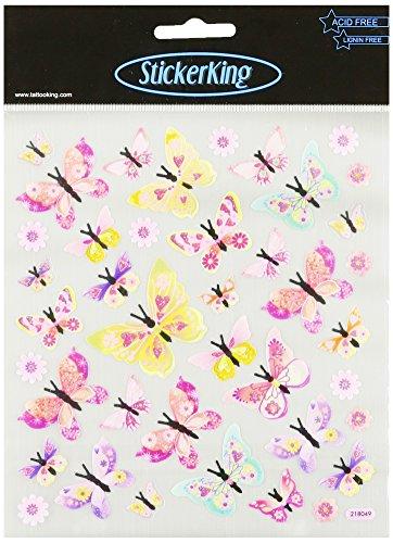 Multi-Colored Stickers-Glitter Monarchs