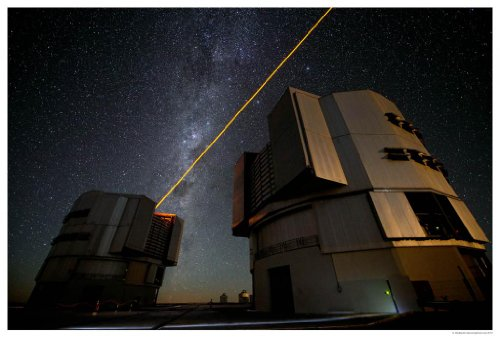 Astronomy Poster - Eso - Ann13010B - The New Parla Laser In Operation At Eso'...