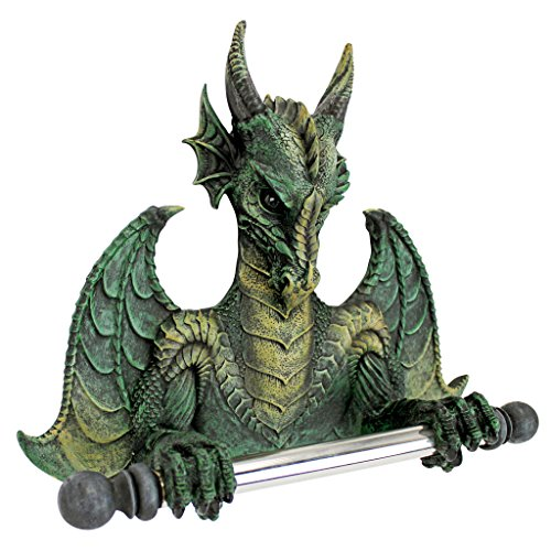 Design Toscano Commode Dragon Tyrant Bath Tissue Holder