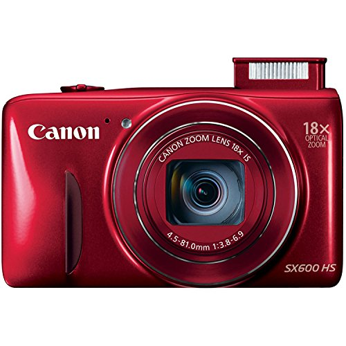 Canon PowerShot SX600 HS 16MP Digital Camera - Wi-Fi Enabled (Red) (Canon Sx600 Hs Camera compare prices)