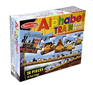 Amazon Com Melissa Amp Doug Alphabet Train Floor Puzzle