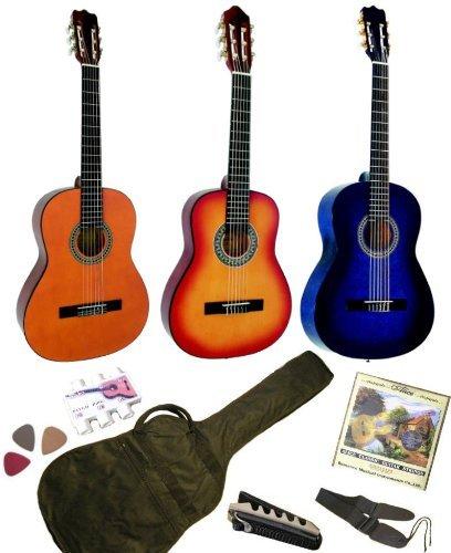 Pack Guitare Classique 1/4 Pour Enfant (4-7ans) Avec 6 Accessoires (bleu)