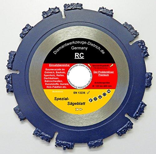 RC125-mm-Bohrung-2223-mm-Spezial-Sgeblatt-fr-Winkelschleifer-und-Trennschleifer-Ausgrabungen-von-Baumwurzeln-und-schneiden-von-Hlzer-aller-Art-Gummi-Reifen-Kunststoffe-Dachpappe-usw