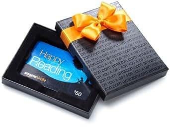 Amazon.com Black Gift Card Box - $50, Kindle Card
