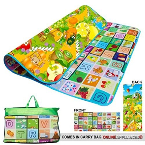 200x180cm-Kids-Crawling-2-Side-Play-Mat-Educational-Game-Soft-Foam-Picnic-Carpet-Baby-Toy-Game-Play-Infant-Toddler-Kids-Child-Boys-Girls-Cool-Unique-Special-Activity-Educational-Learning-Smart-Develop