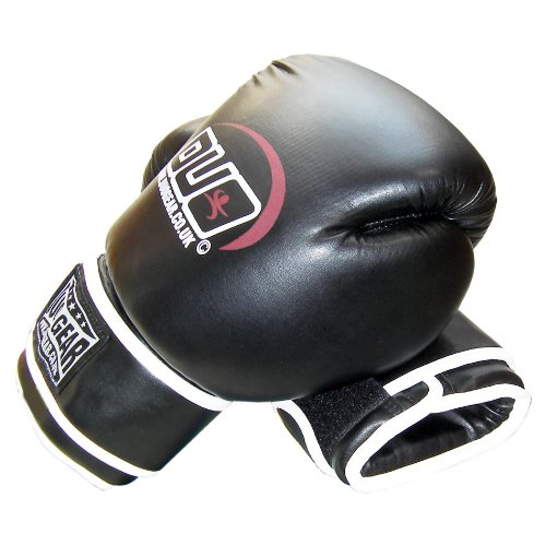 16oz BLACK DUO A/L Muay Thai Kickboxing Boxing Gloves