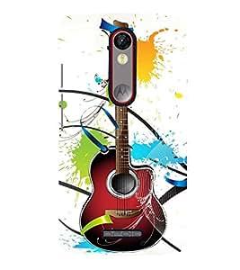 A Class Guitar Voilin Cute Fashion 3D Hard Polycarbonate Designer Back Case Cover for Motorola Moto X Force :: Motorola Moto X Force Dual SIM