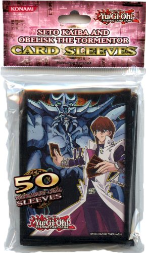 Konami Official Card Supplies YUGIOH Card Sleeves Seto Kaiba Obelisk 50 Count