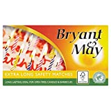 Bryant & May Extra Long Safety Matches (Pack of 12 x bx)