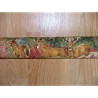 Door Draft Stopper Filled with Fragrant Balsam Woodland Deer