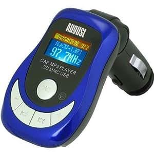 August CR150L Lecteur MP3 pour Voiture et Emetteur Transmetteur FM avec Lecteur de Carte/USB et Télécommande