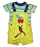 FS Mini Klub Baby Boys' Regular Fit Dungaree Set (88EBODU0013, Yellow, 12 - 18 Months)