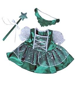 Amazon.com: Green Fairy Princess Dress w/Wand Teddy Bear Clothes ...